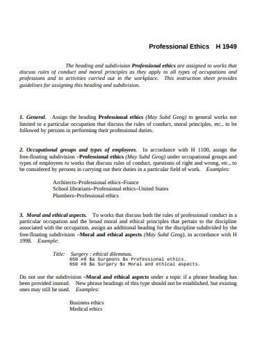 basic professional ethics