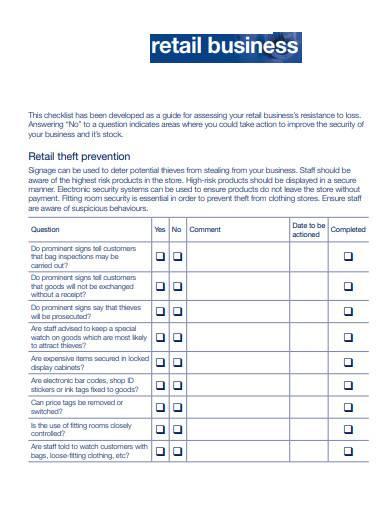 basic retail business checklist