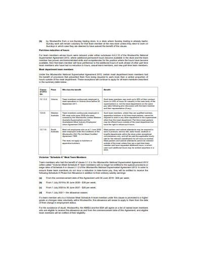 basic retail employment contract sample