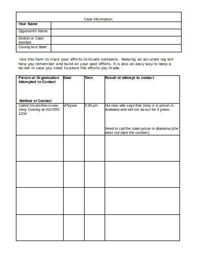 case information in doc