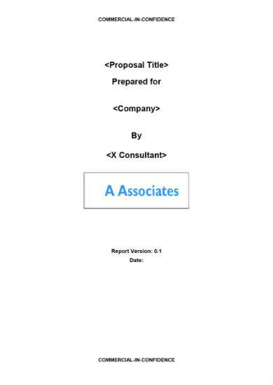 commercial consulting proposal template in doc