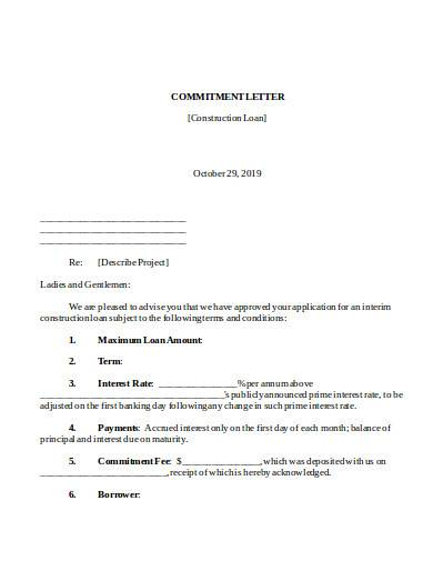 commitment letter in doc