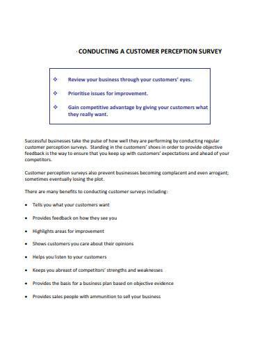 conducting a customer perception survey