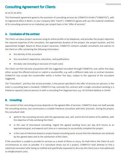 consultant contract agreement template