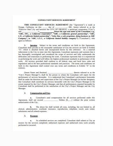consultant contract agreement in pdf