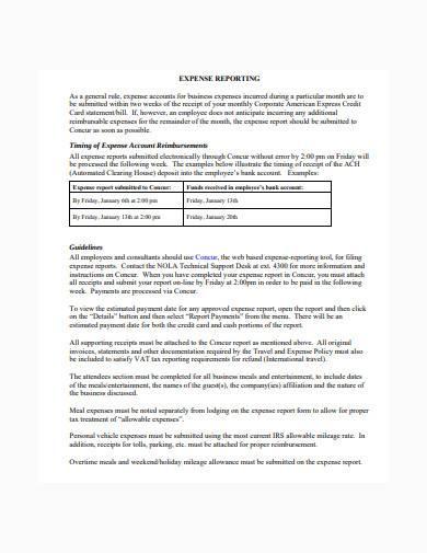 consultant expense report in pdf