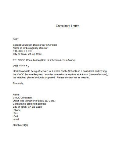 consultant letter