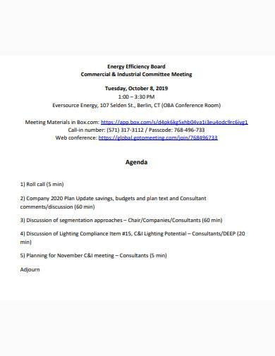 consultant meeting agenda template
