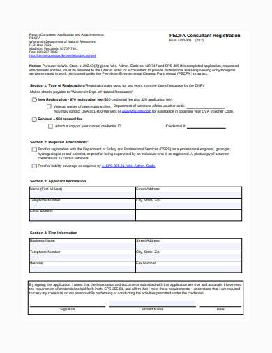 consultant registration form template