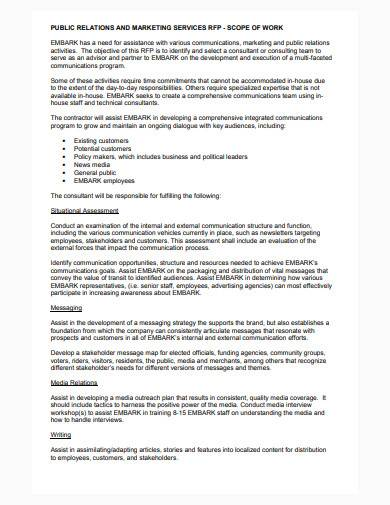 consultant scope of work template