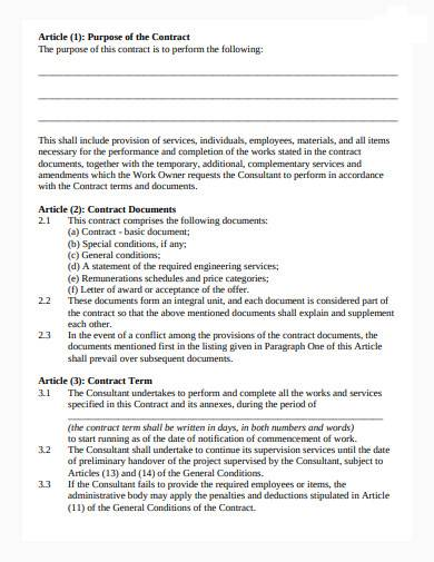 consultant work contract in pdf