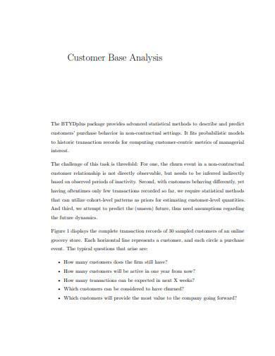 customer base analysis