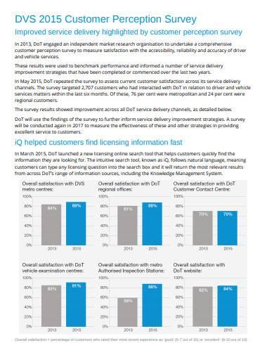 customer perception survey in pdf