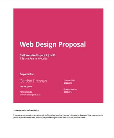 detailed web design proposal sample in pdf