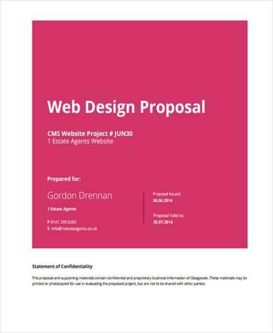 5 Free Website Proposal Samples Pdf