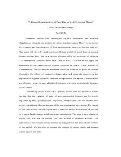 disequilibrium analysis in doc