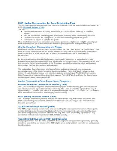 distribution plan in doc