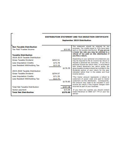 distribution statement template