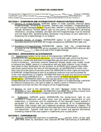distributor agreement in doc