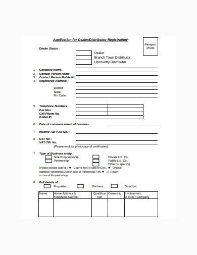 distributor assessment form template