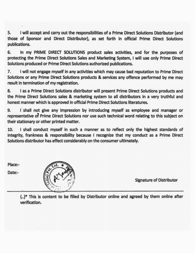 distributor letter of appointment agreement letter