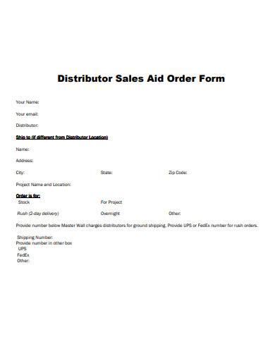 distributor sales aid order form