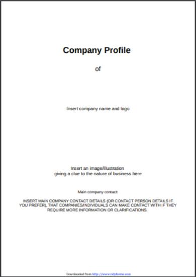 editable catering company profile template