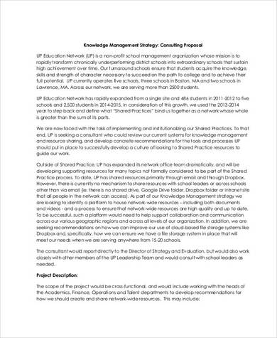 education management consulting proposal sample