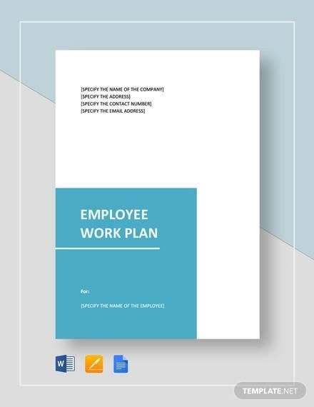 employee work plan template