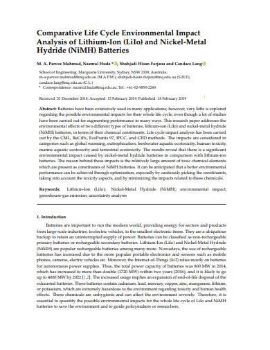 environmental impact analysis sample1