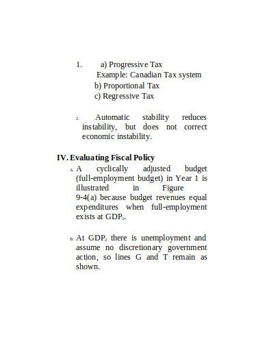 expansionary policy sample in doc