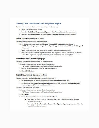 expense transaction template