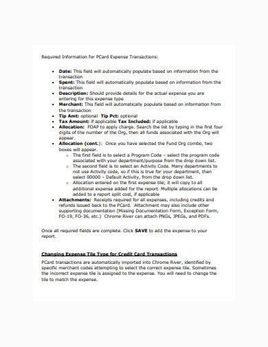 expense transaction in pdf