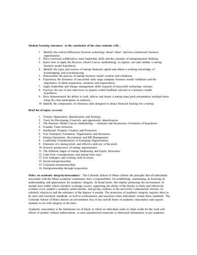 formal business model hypothesis sample