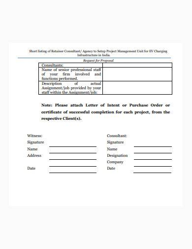 formal consultant form sample