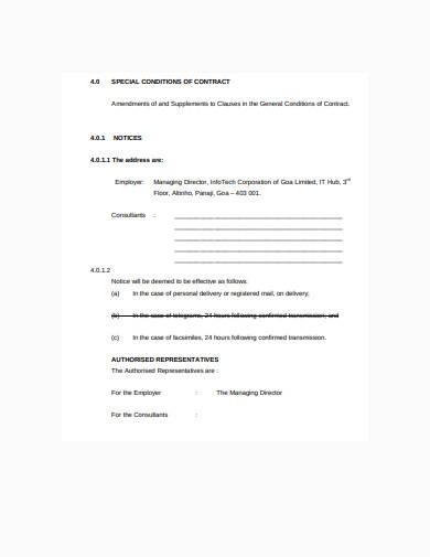 formal consultant work contract template