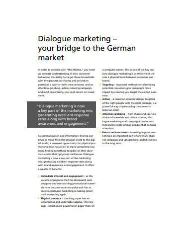 formal dialogue marketing template