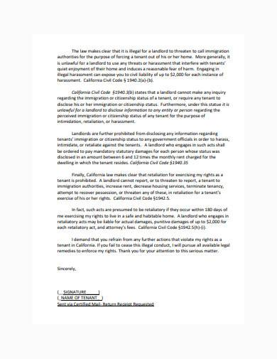 formal immigration letter sample