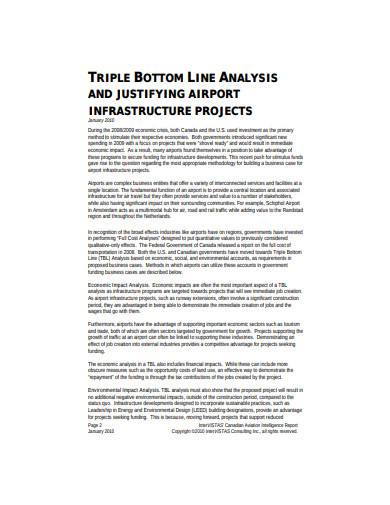 formal triple bottom line analysis sample