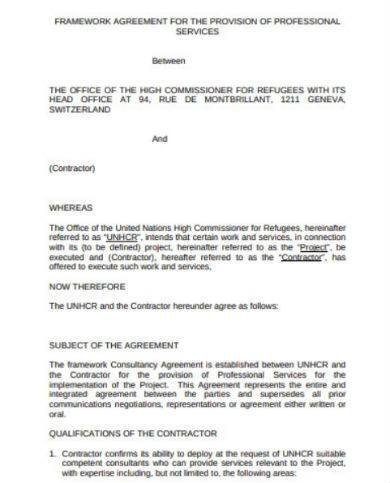 framework agreement for provision of services in pdf