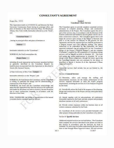 general consultant contract agreement sample