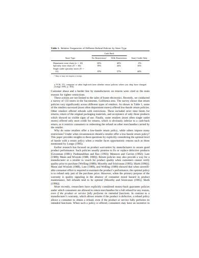 general retail return policy template