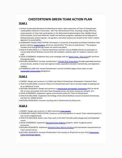 green team action plan sample