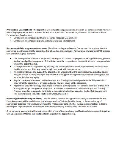hr consultant assessment plan