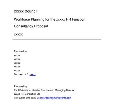 human resources consulting proposal sample in pdf