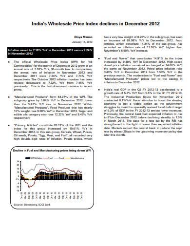 indias wholesale price index sample