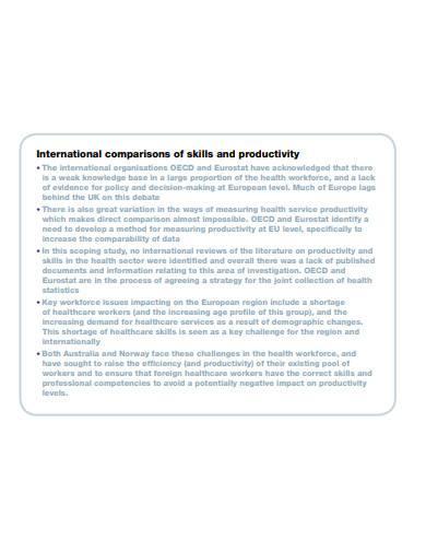 international comparisons of skills and productivity