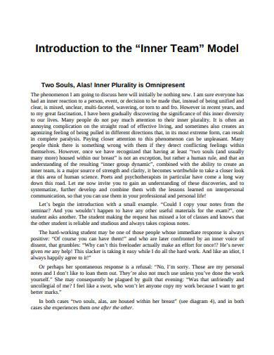 introduction to the inner team model