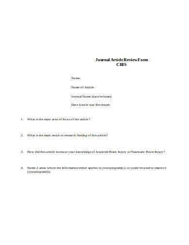 journal article review form