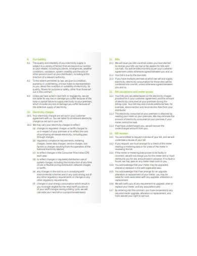 large retail customer market contract template